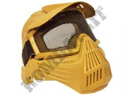 Airsoft Mask Full Face Safety Protection Metal Mesh Eye Goggles Tan